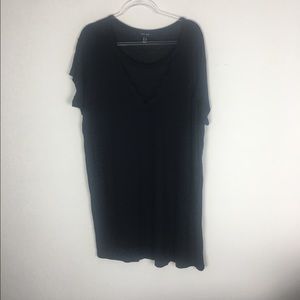 New Look | Black Lace V Neck Blouse Size 18